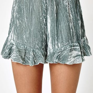 Kendall and Kylie Velvet Ruffle Shorts at PacSun.com