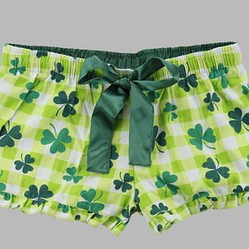 St. Patricks Day - Flannel Shorts - Ruffles with Love