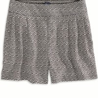 AEO Women's Printed Soft Short (True Black)