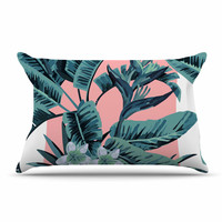 "Kess Original ""Monstera"" Nature Pop Art Pillow Sham"