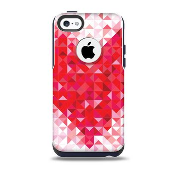 The Geometric Faded Red Heart Skin for the iPhone 5c OtterBox Commuter Case
