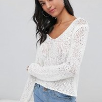 Scoop Neck Loose Knit Sweater