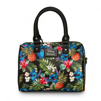 Stitch Hawaiian Print Pebble Crossbody Duffle