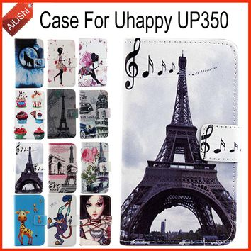 AiLiShi Factory Direct! For Uhappy UP350 Case Flip Holder Wallet Leather Case Cover Bag 100% Special Phone Accessories