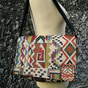 Messenger Bag iPad Tablet Cross Body Shoulder Bags Ethnic Laptop Aztec Purse Boho Hobo Bohemian Chic Ikat Tribal Pouch Hipster Handmade chic
