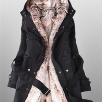 Winter Black Women Overcoat Fashion Coat, Women's Wool Jackets Coats