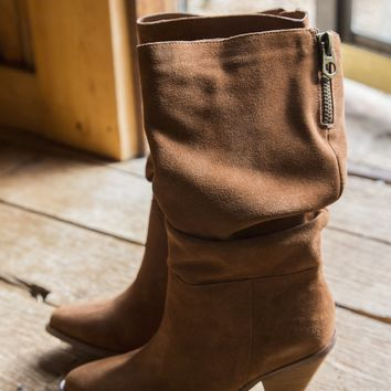 Stella Split Suede Boots, Rusty Brown | Chinese Laundry