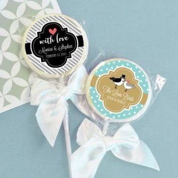 Strawberry Flavored Lollipop Favors Personalized by Theme (Minimum Qty. 24)