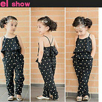 2PC Rompers Toddler Baby Girls Braces jumpsuits + belt Kids Clothes Outfits HU
