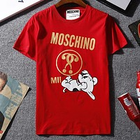 Moschino Woman Men Fashion Casual Shirt Top Tee