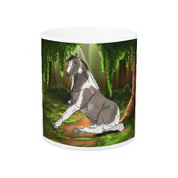 Sitting Pretty Paint Horse in Forest Coffee Mug