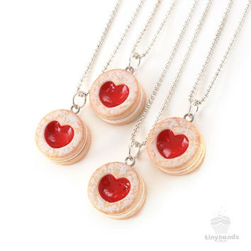 Scented Shortcake Heart Cookie Necklace