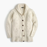 J.Crew Womens Collection Cashmere-Mohair Cable Cardigan Sweater