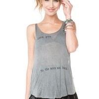 Brandy ♥ Melville    I Love You To The Moon And Back Tank - Clothing