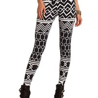 BLACK AND WHITE TRIBAL LEGGING