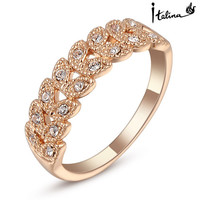 Rose Gold Plated Austrian Ring
