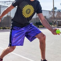 Purple Disco Sport Shorts - Betabrand