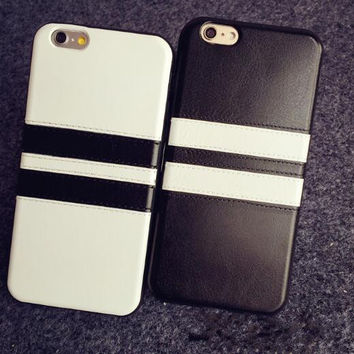 Fashion black and white striped cell phone case for iPhone 5 5s SE 6 6s 6plus 6s plus