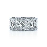 Tiffany & Co. -  Braided band ring with diamonds in platinum.