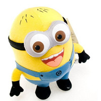"Despicable me 12"" 3D Eyes Plush Toy 30cm Minions Stuffed Jorge Stewart Dave minion toy stuffed doll"