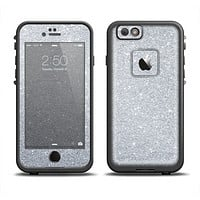 The Silver Sparkly Glitter Ultra Metallic Apple iPhone 6 LifeProof Fre Case Skin Set