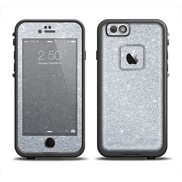 The Silver Sparkly Glitter Ultra Metallic Apple iPhone 6/6s LifeProof Fre Case Skin Set
