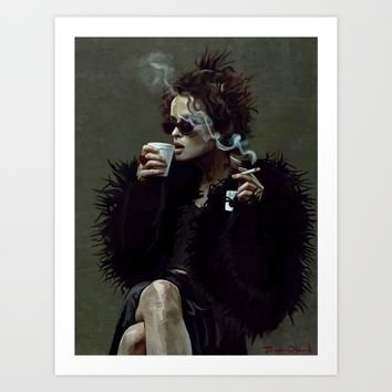 Marla Singer (remaining men together) Art Print by lensebender