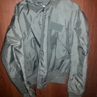 Vintage 1980s Fire Resistant Air Force Military Jacket - Flyer's Jacket by ISRATEX, INC - Size Large (42-44)