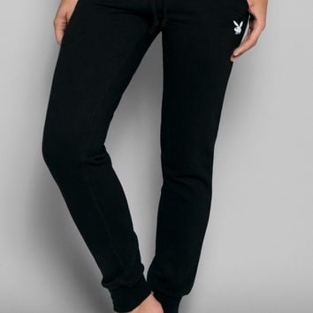 Playboy Basics Rabbit Head Jogger Pants