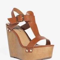 Emily-42 Boho Everyday Wood Wedge