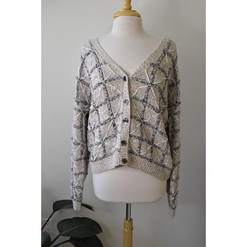 Vintage Cotton Window Pane Sweater