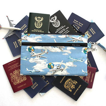 Family Travel Wallet - Family Passport Holder - Passport Case - Passport Wallet - Travel Organizer - Travel Gift for Him - Passport Cover