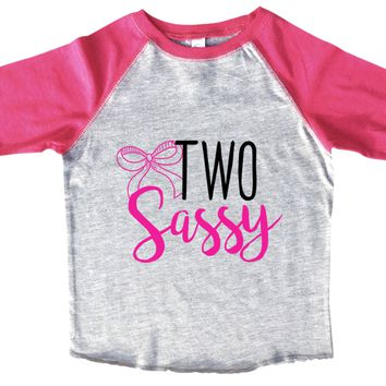 Two Sassy BOYS OR GIRLS BASEBALL 3/4 SLEEVE RAGLAN - VERY SOFT TRENDY SHIRT B990