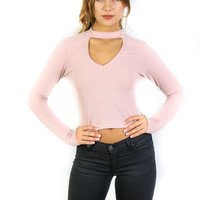 Bali Getaway Dusty Mauve Choker Top