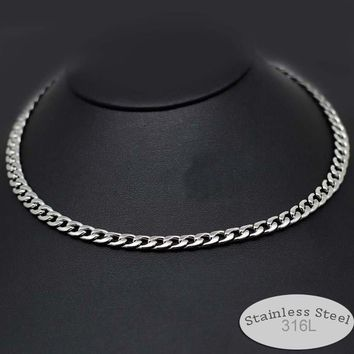 stainless steel 316L never fade 23 19 inches men male husband chain necklace chocker 5mm 6mm wide jewelry cool Gothic style 6103