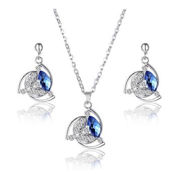 Floral Police Support Necklace and Earrings Set