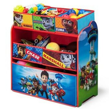 Nick Jr. PAW Patrol Multi-Bin Toy Organizer Kids Room Storage and Furniture
