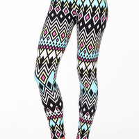Diamonds Chevron Leggings - LoveCulture