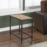 Terracotta Tile Top/Hammered Brown Accent Side Table