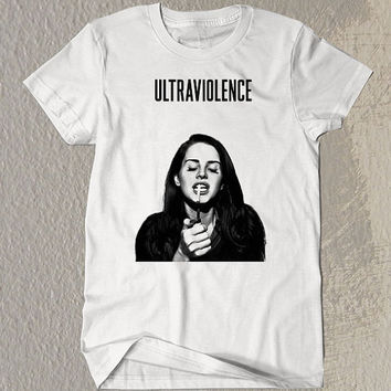 Lana Del Rey Ultraviolence Printed on White t-Shirt For Men or Women Size TSL2
