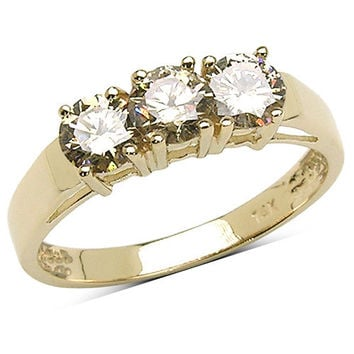 1.04 Carat Genuine Yellow Diamond 14K Yellow Gold Ring