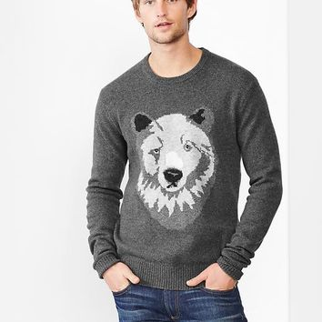 Lambswool Bear Sweater