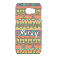 Colorful Chevron Zig Zag Tribal Aztec Ikat Pattern Samsung Galaxy S6 Cases