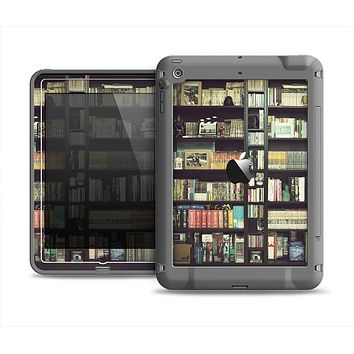 The Vintage Bookcase V2 Apple iPad Air LifeProof Fre Case Skin Set