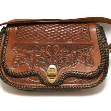 Mexican Hand Tooled Leather Purse