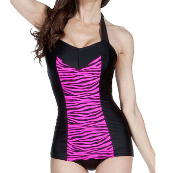 SALE Clementine Swimsuit Pink Zebra (XS-S)