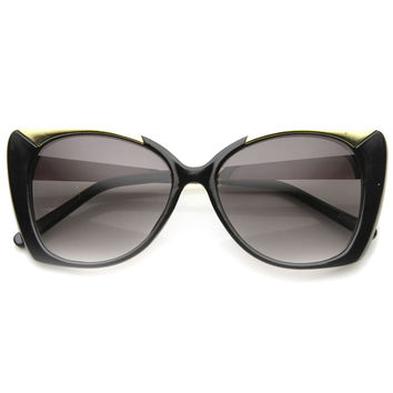 THE JOANNE METAL TEMPLE CAT EYE SUNGLASSES