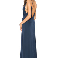 Capulet V Neck Maxi Dress in Navy