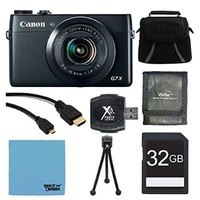 """Canon PowerShot G7 X Digital Camera 32GB Ultimate Bundle - Includes Camera, 32GB SDHC Memory Card, Carrying Case, 3 Card Memory Card Wallet, SD USB 2.0 Card Reader, 5"""" Flexible Mini Tripod, High Speed Micro-HDMI to HDMI A/V Cable, and Micro Fiber Cloth"""