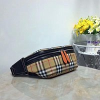 BURBERRY LEATHER WAIST PACK CROSS BODY BAG